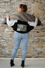 Load image into Gallery viewer, #MultiFaceJacket denim + brown + plush +  woolly + striped