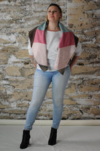 Load image into Gallery viewer, #MultiFaceJacket pink + green + brown + striped + woolly