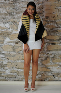 #MultiFaceJacket black + velvet + silk + gold
