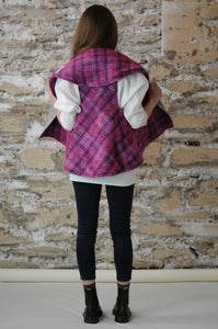 #MultiFaceJacket  grey + pink + purple + woolly