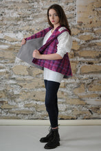 Load image into Gallery viewer, #MultiFaceJacket  grey + pink + purple + woolly