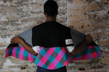 Load image into Gallery viewer, #MultiFaceJacket green + pink + check + silk + denim + black