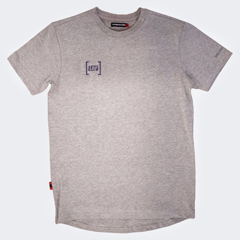 LBF Youth Grey Box Logo Tee