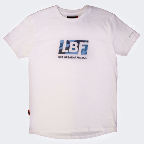 LBF Youth White Aqua Camo Tee