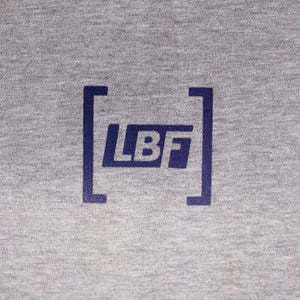 LBF Adult Grey Box Logo Tee