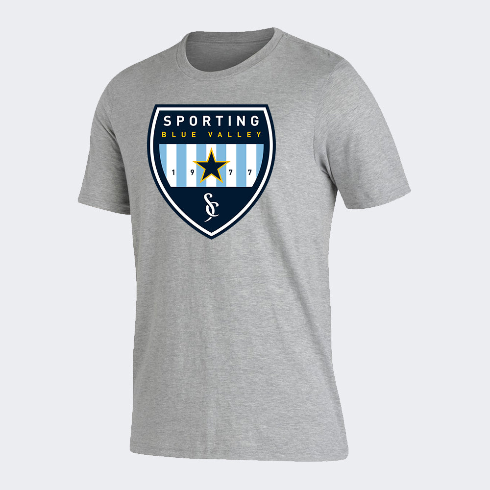 Sporting Blue Valley Gray Spiritwear Tee