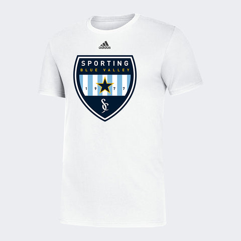 Sporting Blue Valley White Spiritwear Tee
