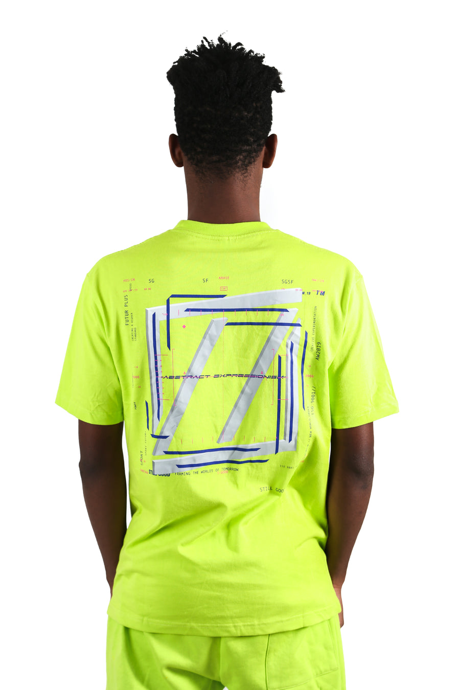 still good abstract movement 3d tee #acid lime
