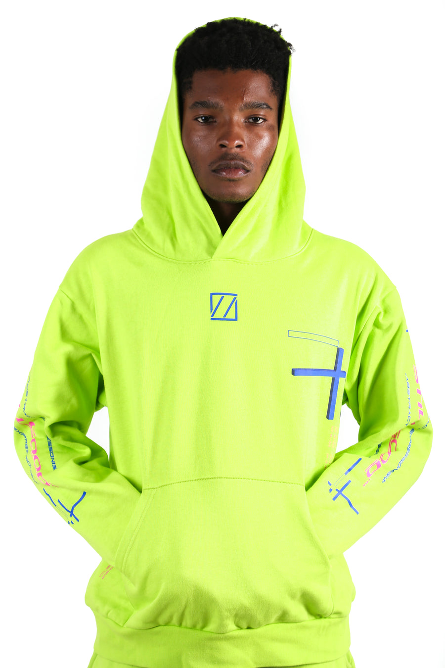 Abstract Movement Hoodie Acid Lime / XS | Still Good