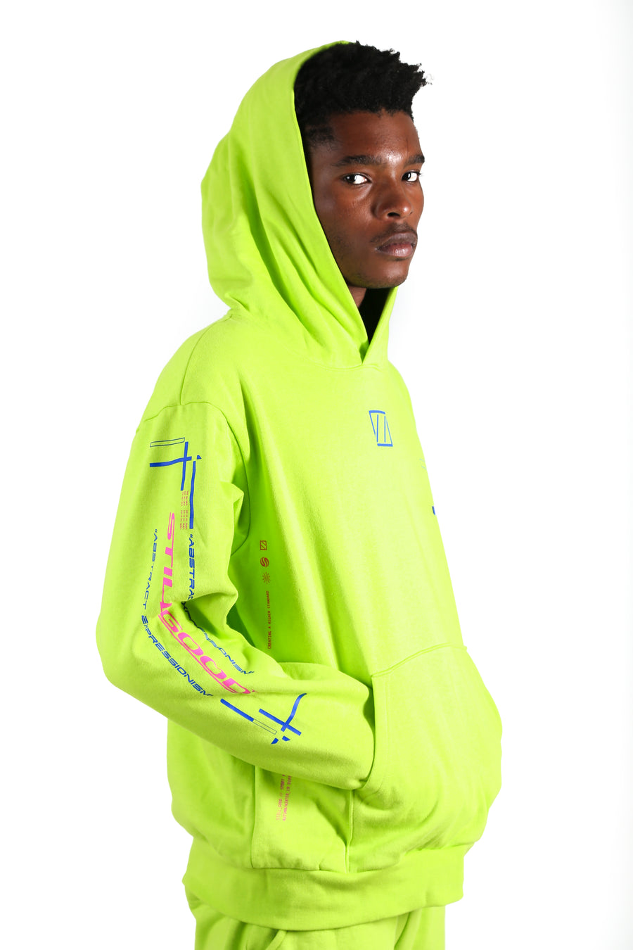 still good abstract movement hoodie #acid lime