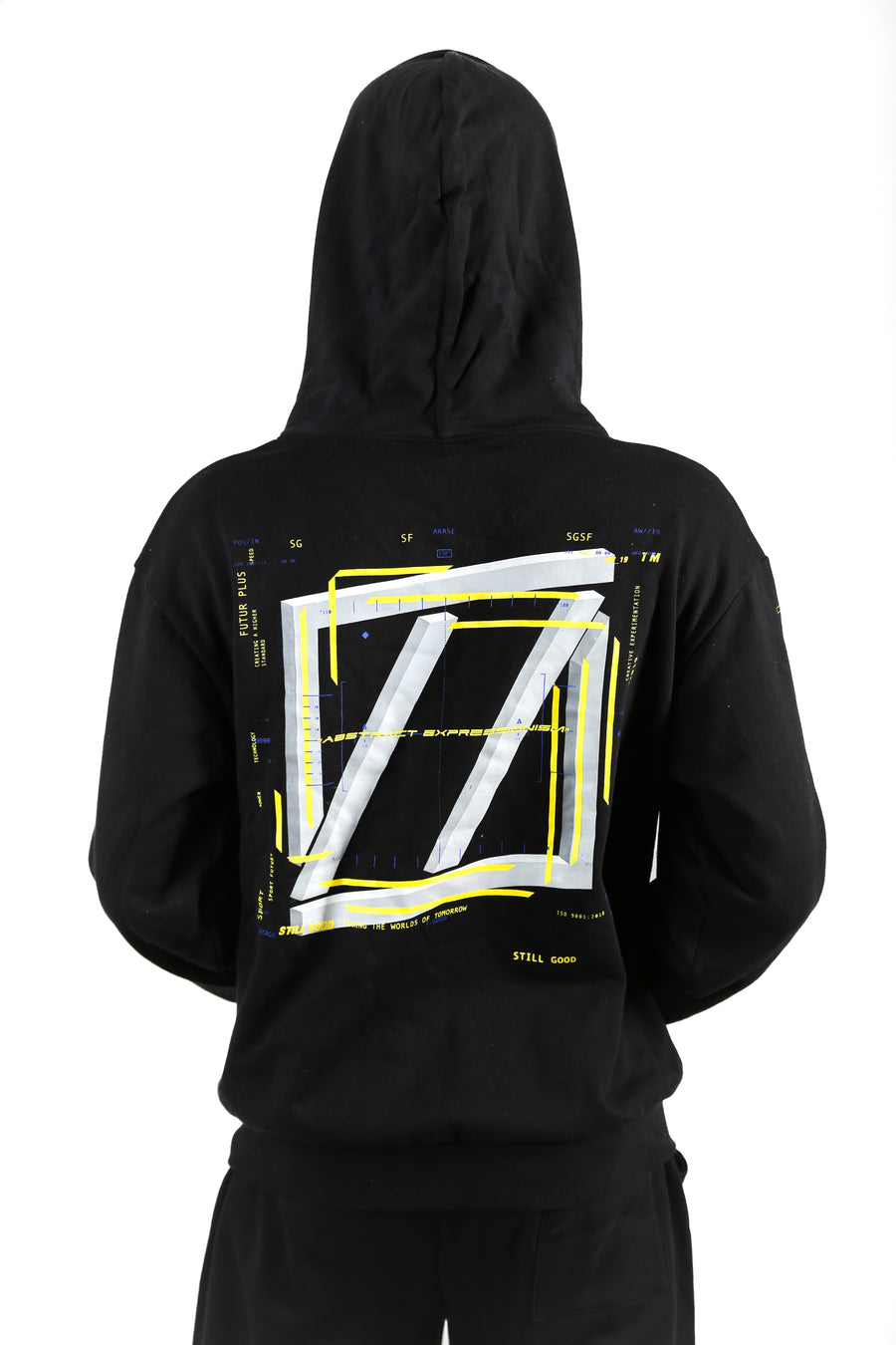 still good abstract movement hoodie #black