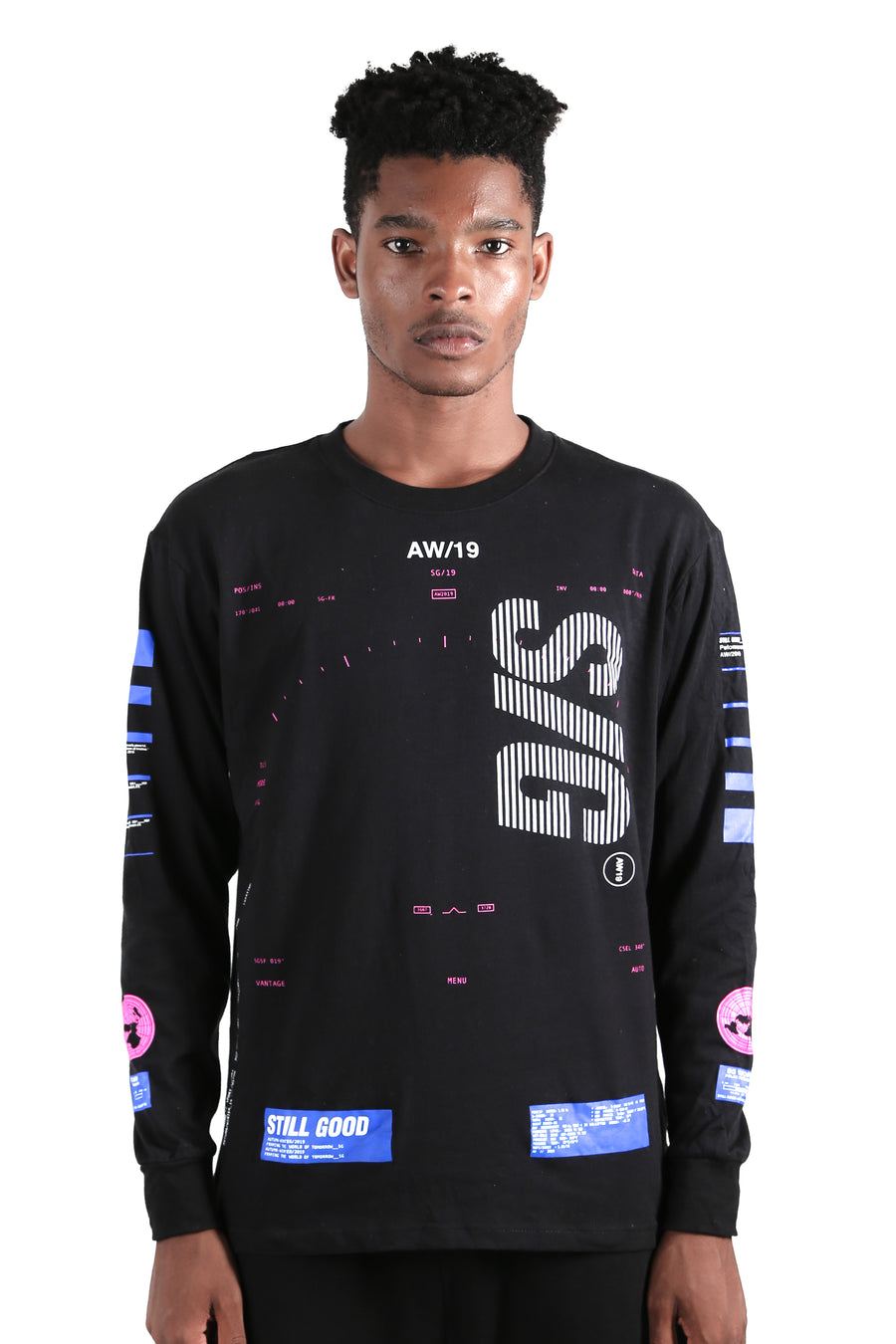 Geo LS Tee Black / XS | Still Good