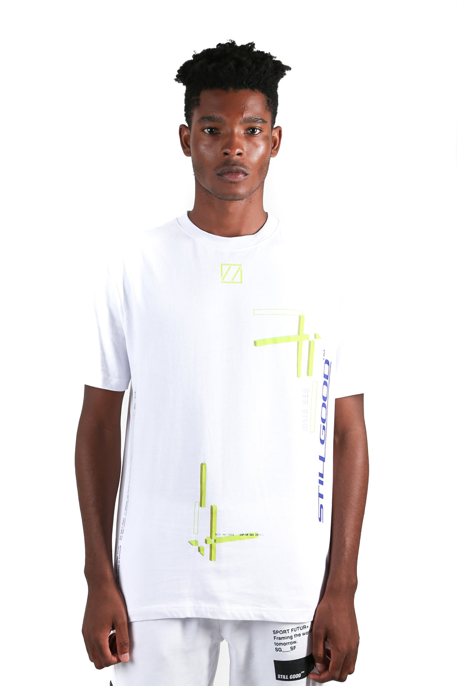 Abstract Movement 3D Tee White / XS | Still Good