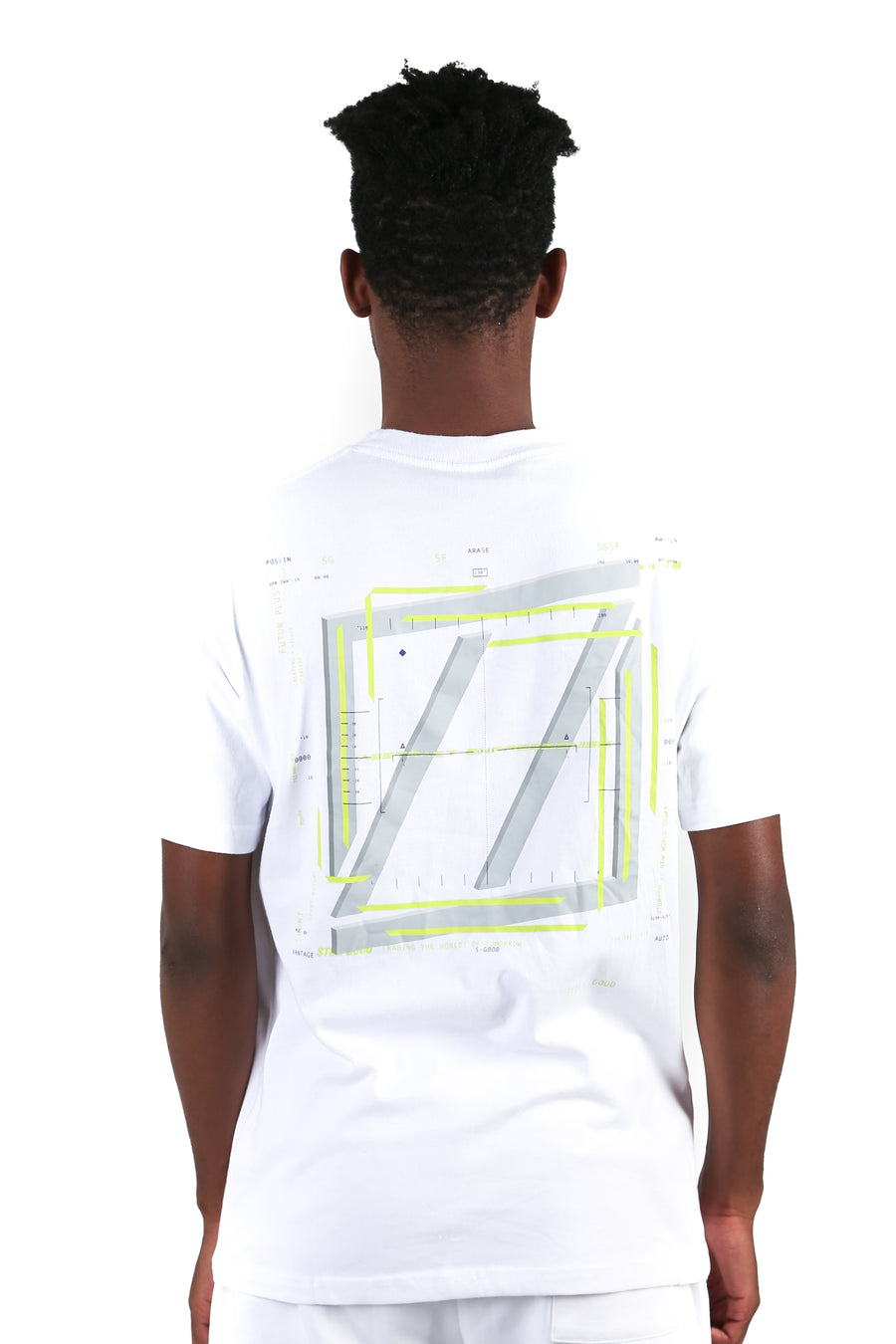 still good abstract movement 3d tee #white