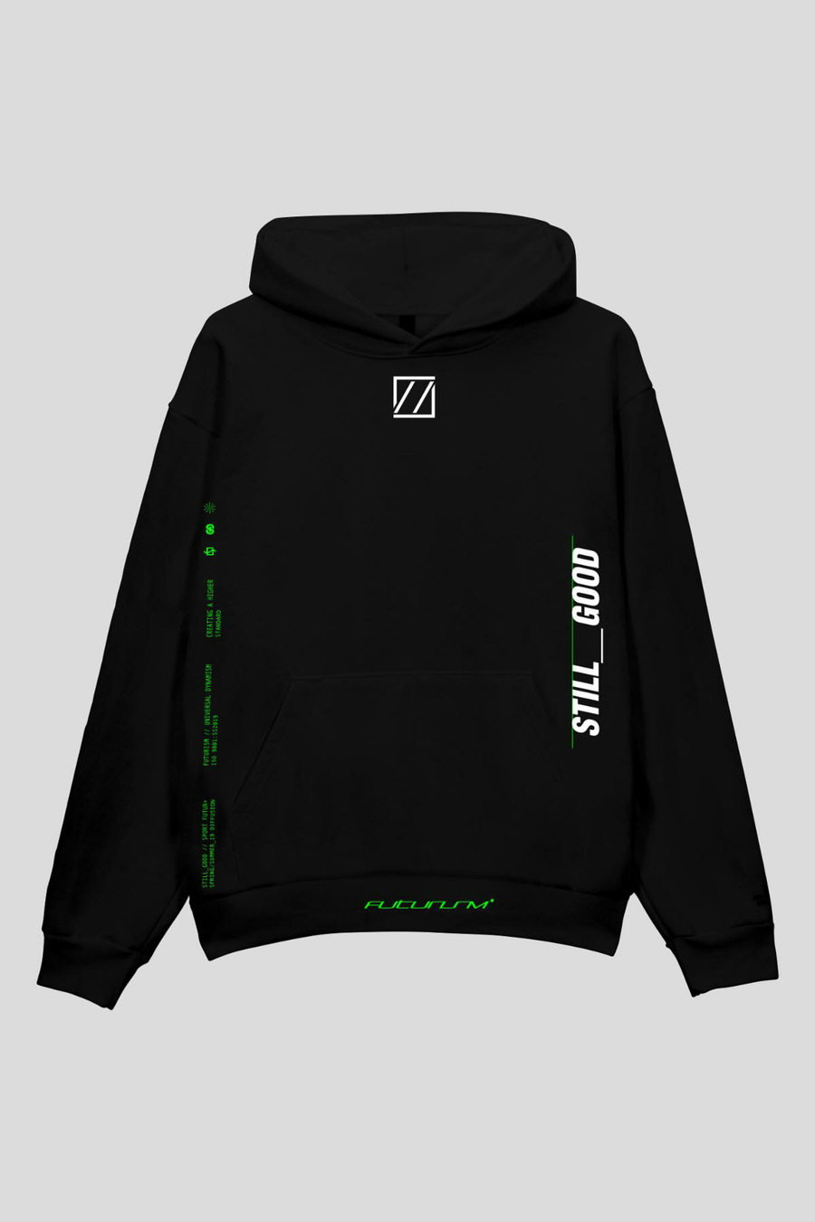 Movement Hoodie Black/White / XS | Still Good