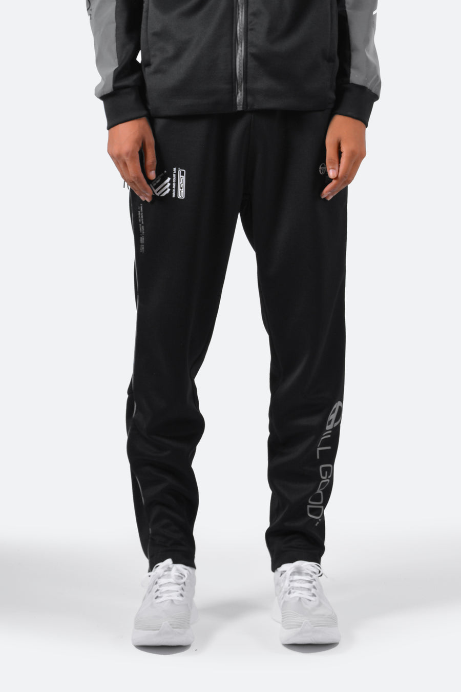 Sergio Tacchini F1 Lab Reflective Track Pants Black/Reflective Grey / XS | Still Good