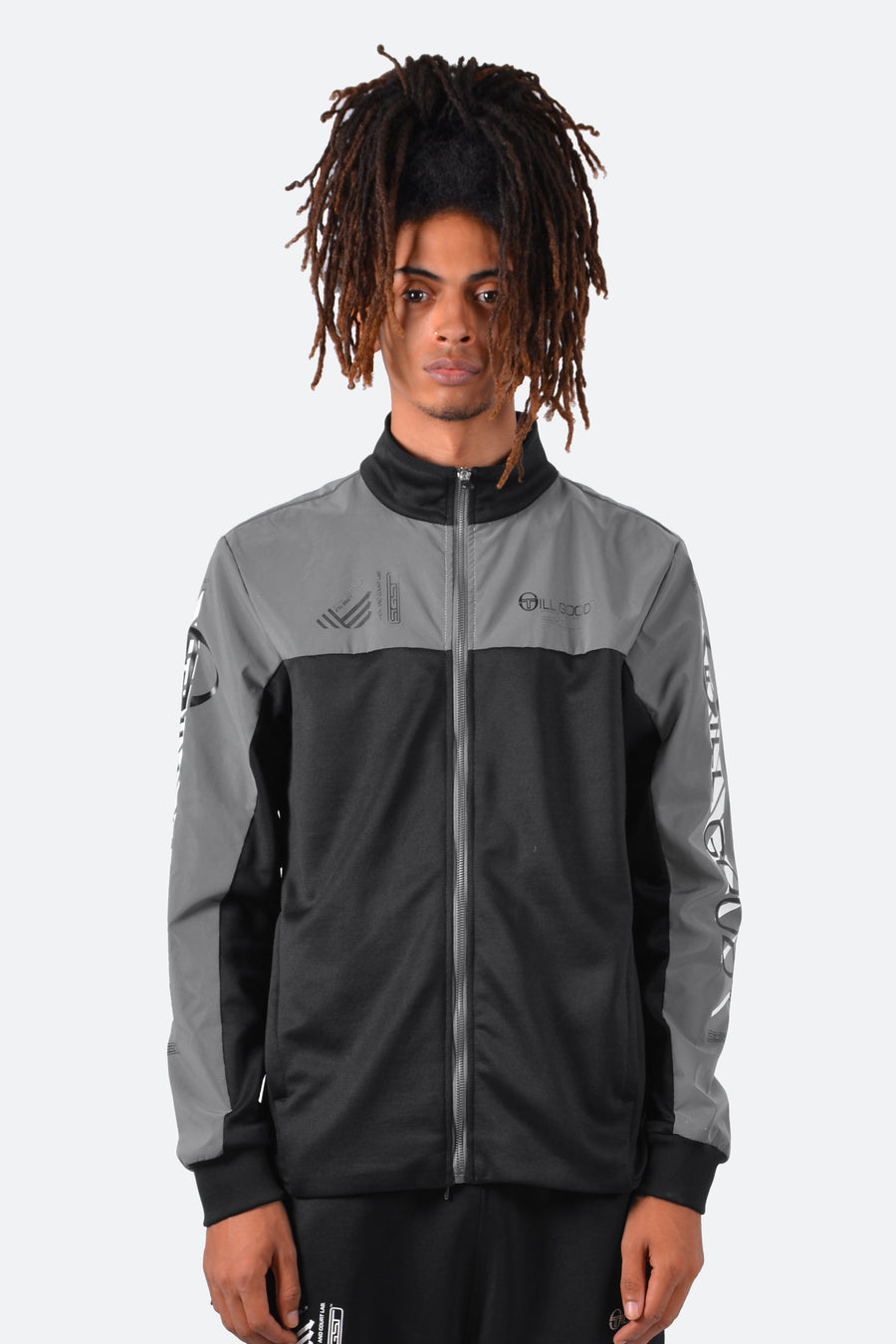 Still Good x Sergio Tacchini F1 Lab Reflective Track Jacket #Black/Reflective Grey