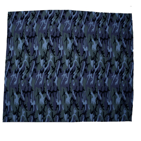 Blue Camo Blanket with a Blue Life of Dad Logo