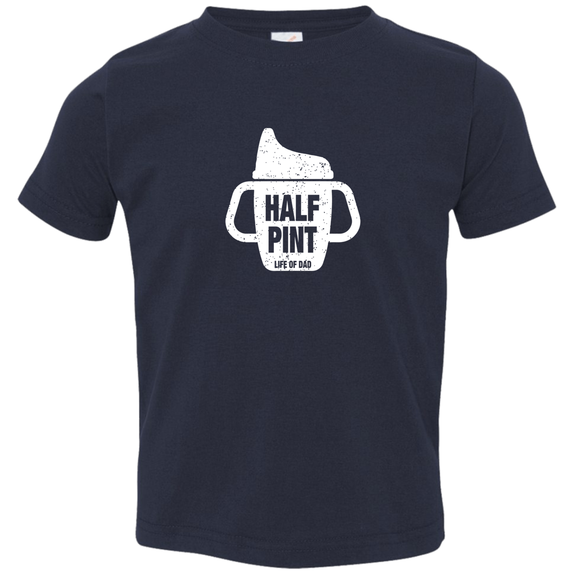 Pint/Half Pint Sippy Cup -  Toddler Jersey T-Shirt