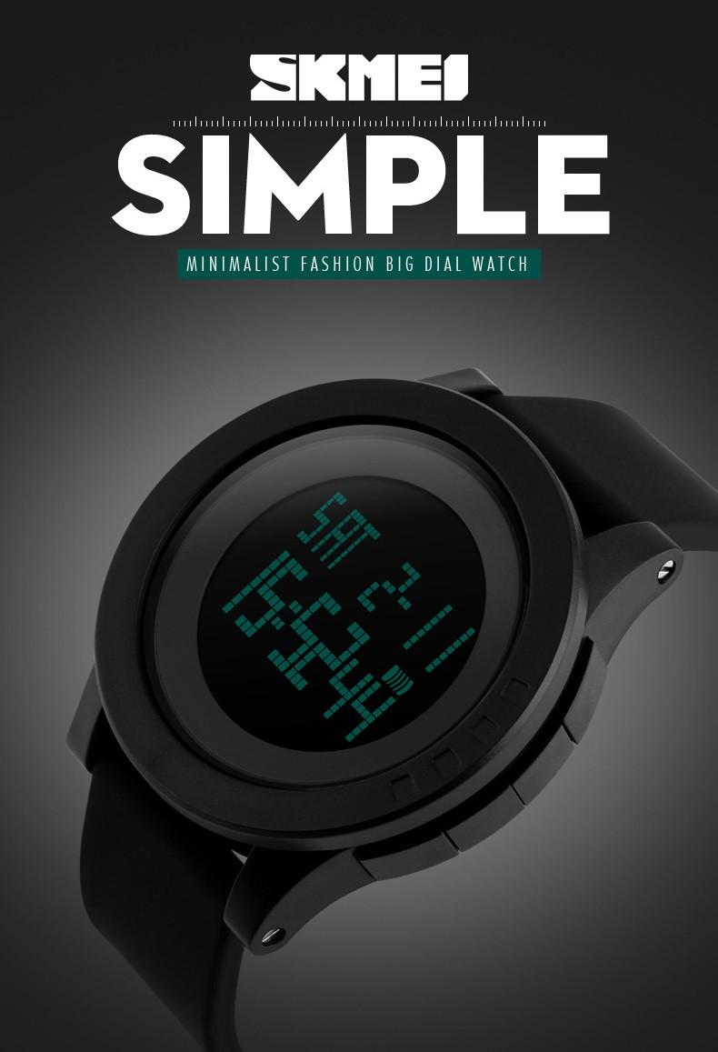 GREAT SKMEI 1142 Jam Tangan Digigtal Sport Pria Water Resistant 50m Rubber  Strap - Hitam ced635e5ee