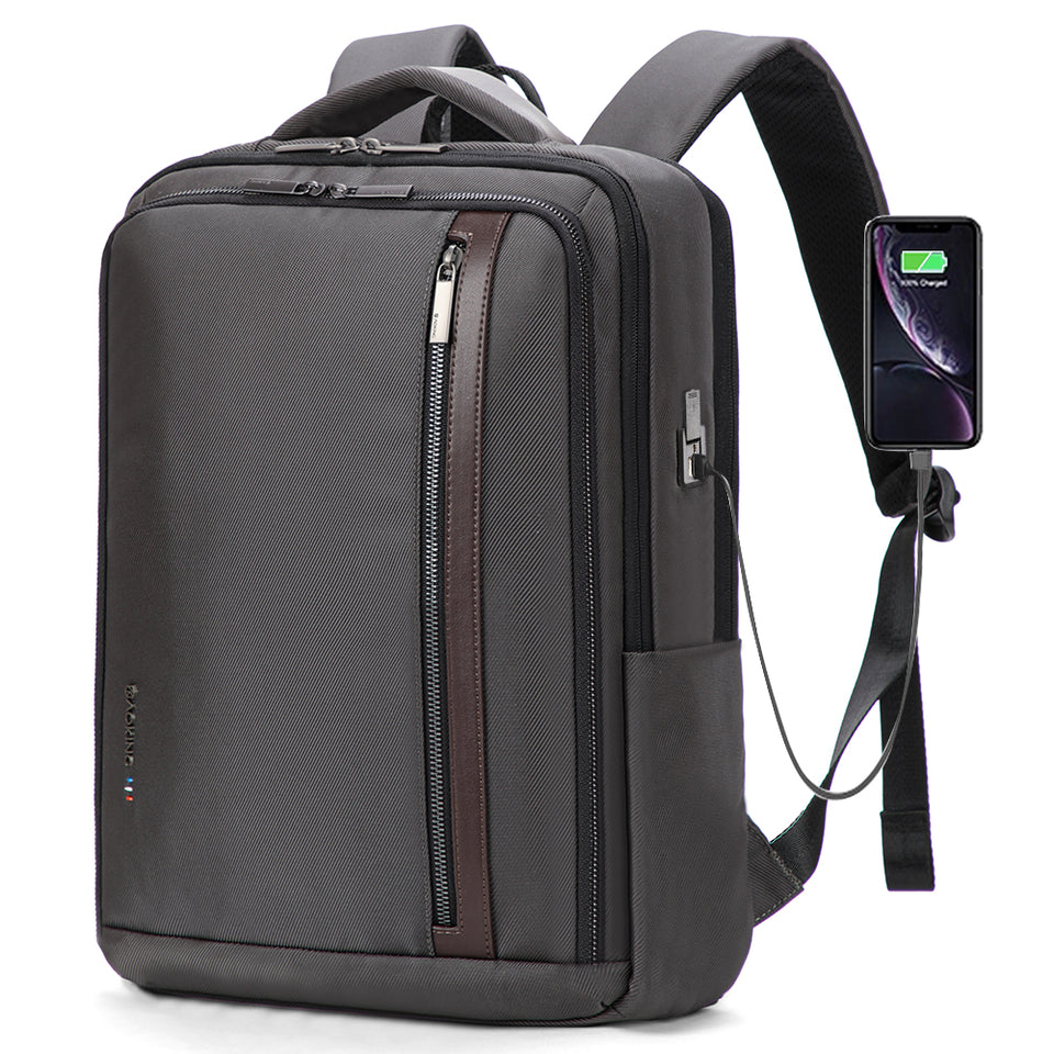 Anti-Theft Laptop Backpack with USB Charging