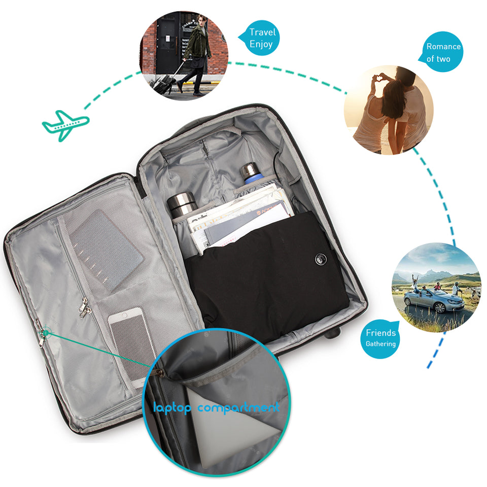 Short trip business trolley luggage bag