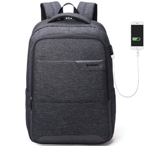 Anti-thief USB charging business backpack