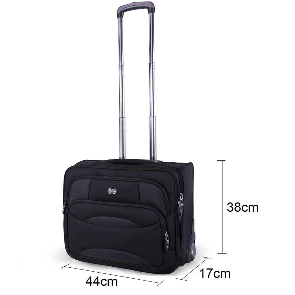 Aoking Wheeled Luggage Trolley Bag Men Travel Rolling suitcase Men 40L Travel Business Trip Bag