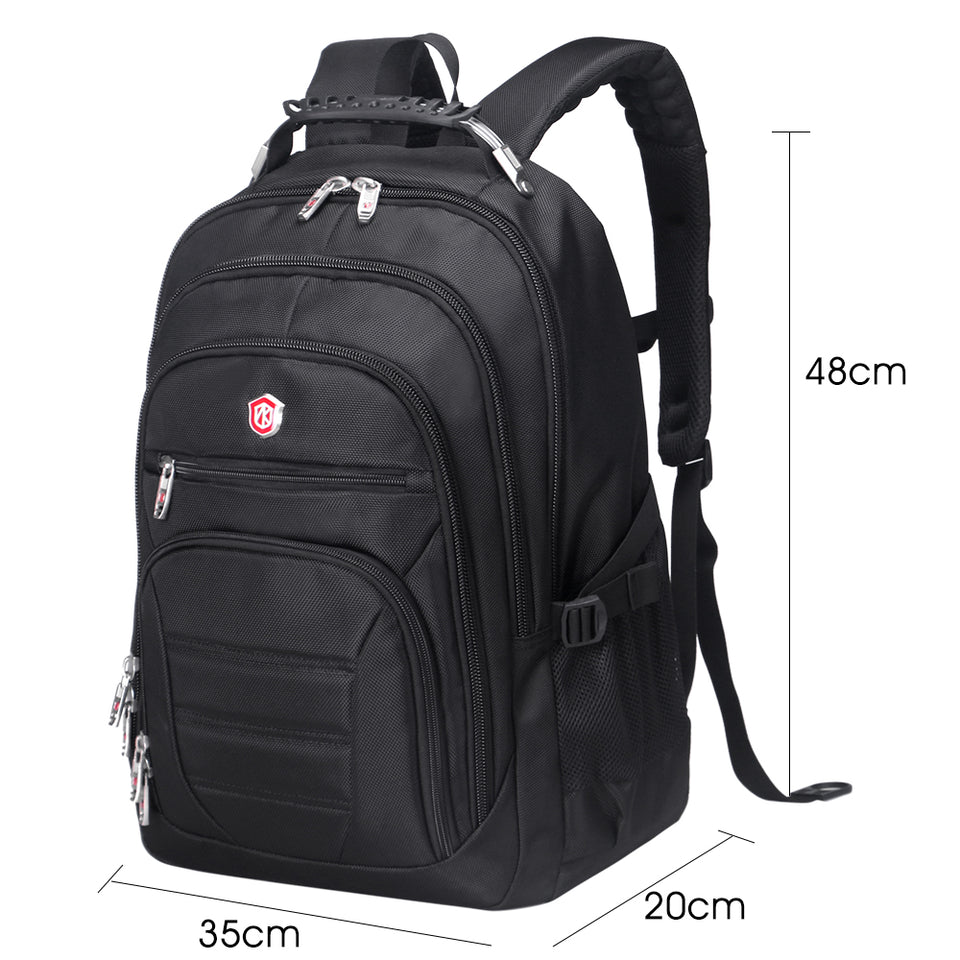Spacious adult backpack 3 layer