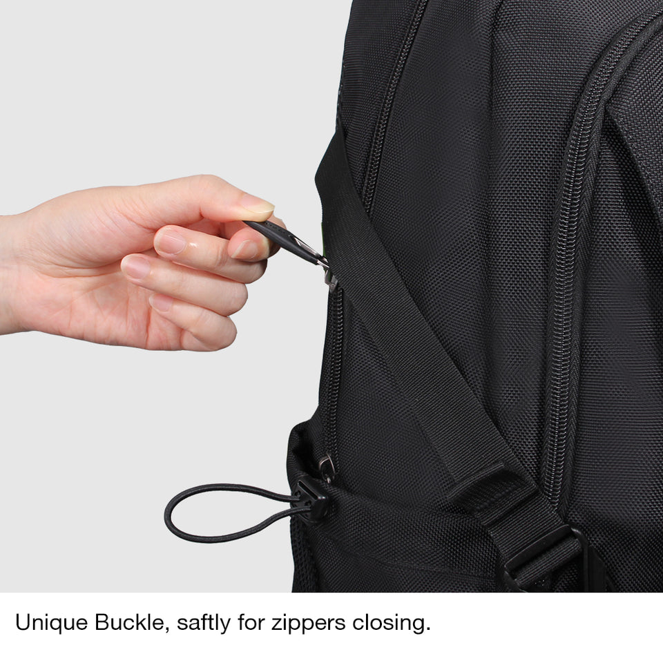Ergonomic design school backpack with key chain holder