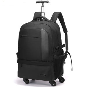 Aoking Large Capacity Trolley Backpack Luggage Waterproof Travel Backpack Multi-functional Carry On Luggage with Laptop pocket