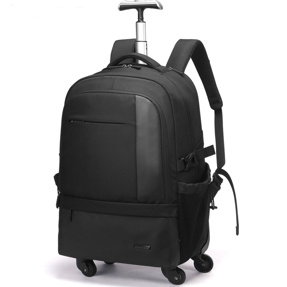 4 wheeled trolley bag with simple design