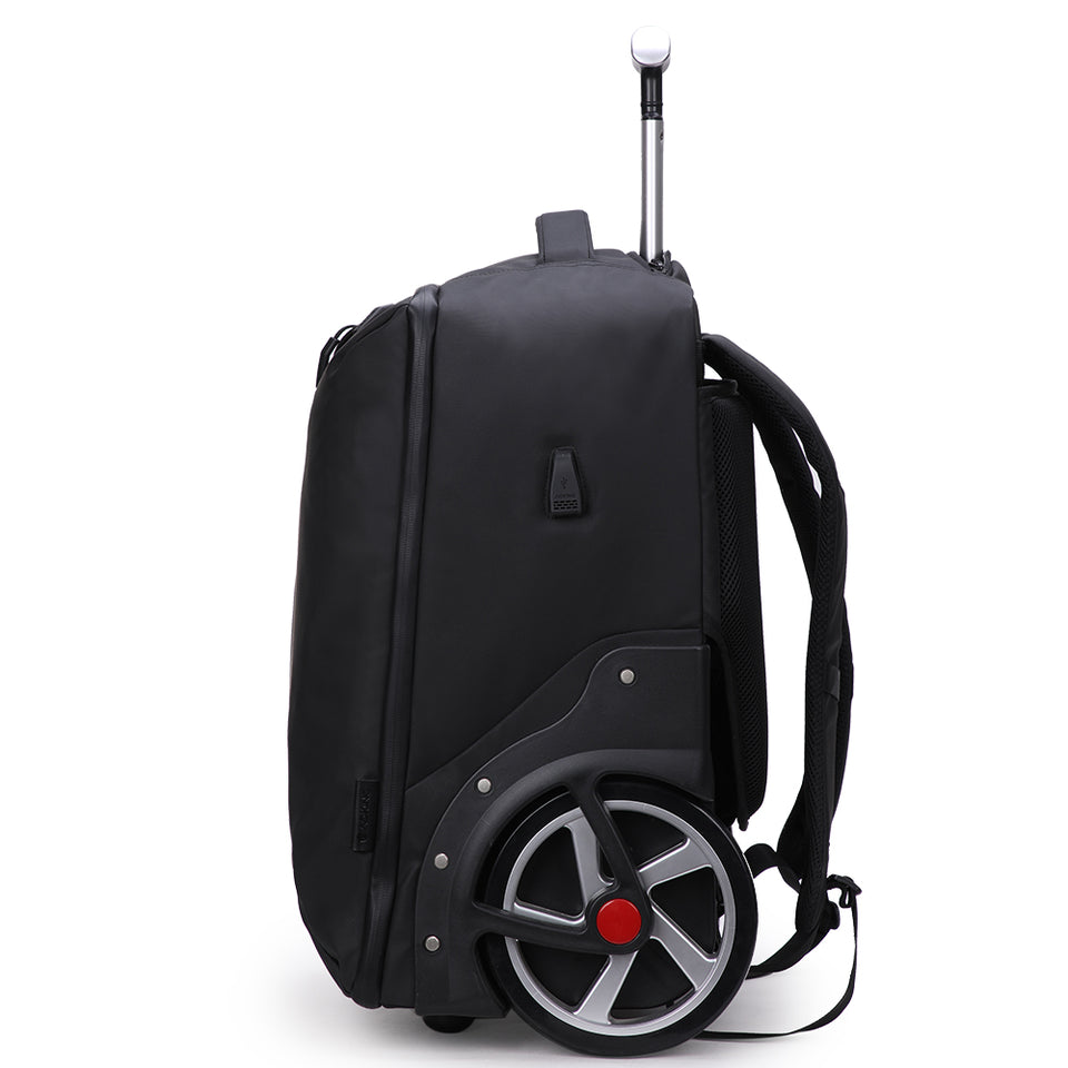 Classic large wheeled ABS trolley suitcase