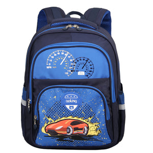 Aoking Printing Cute Kids School Backpack for Children Shoulder Elementary Lightweight Leisure with Reflective Strip