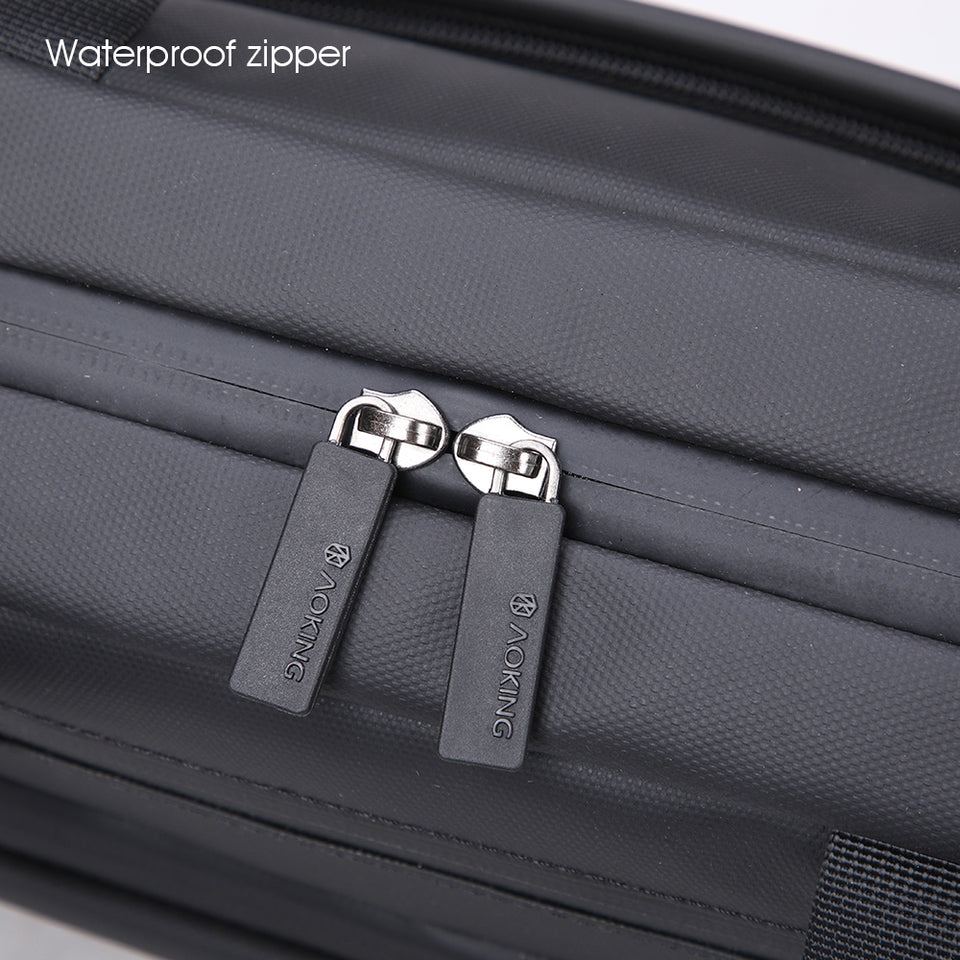 Bag with metallic zippers