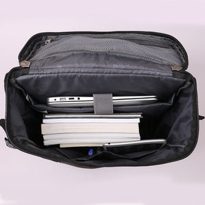 Laptop backpack with independent computer layer