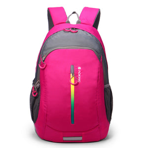 Aoking Waterproof Nylon Backpack with Rainbow zippers Casual Travel Backpack Casual Book bags Travel Bag Laptop Rucksack Mochila