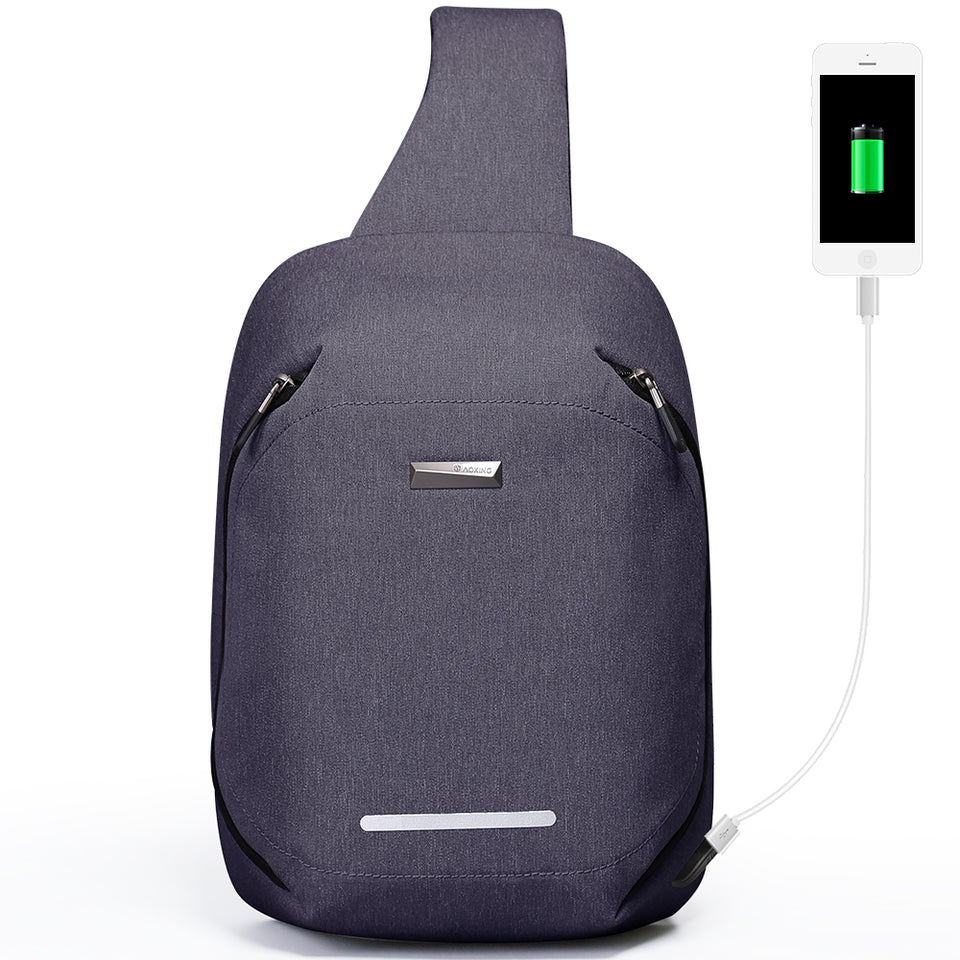 Water resistant chest backpack anti theft