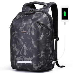 Aoking Men Backpack USB Charging TSA Lock Large Travel Backpack Anti-theft Luggage Male Waterproof Camouflage Daypack for 15.6 laptop