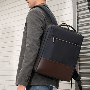 Fine craft leather backpack with simple design
