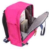 Anti theft school bag with bright colors