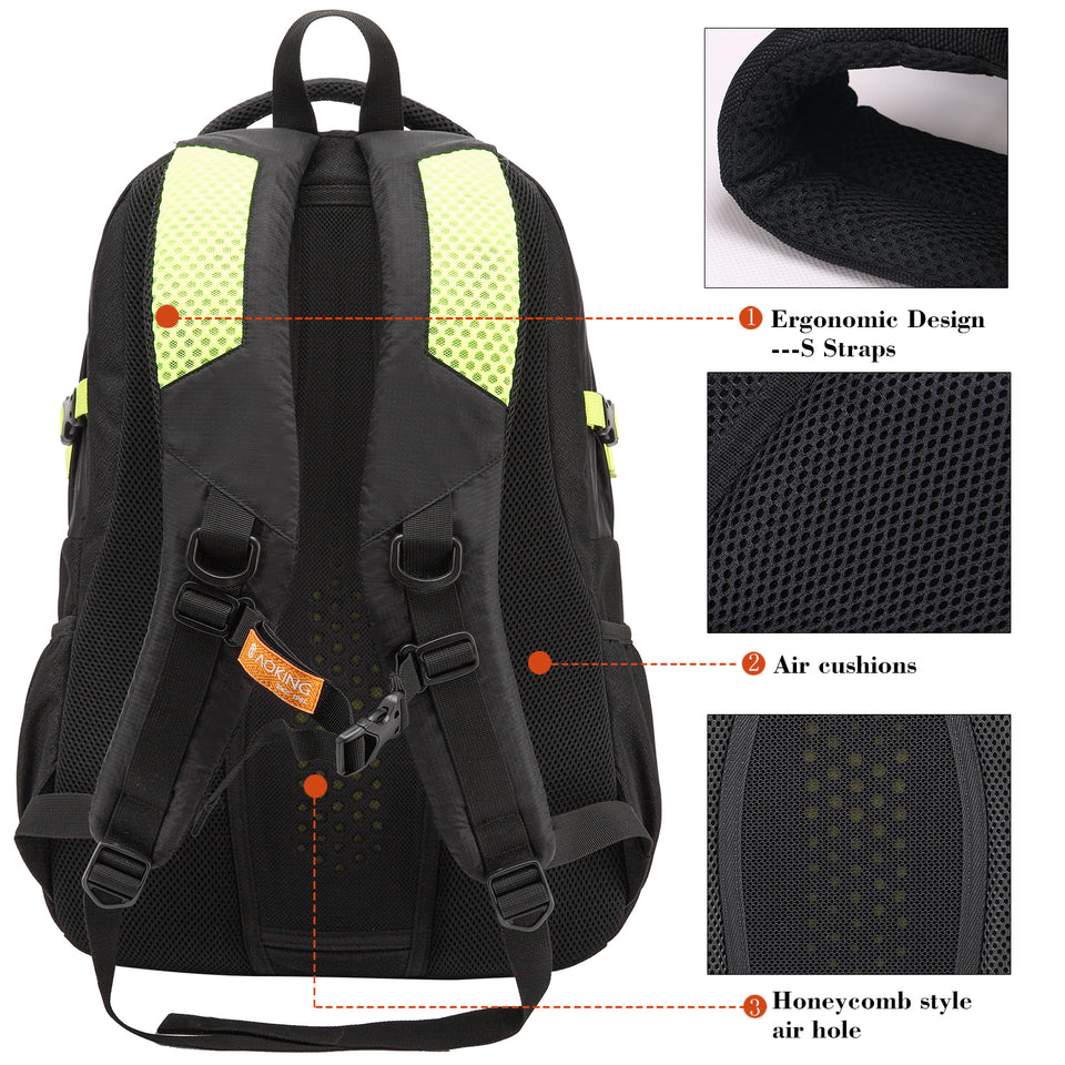 Classic backpack with honeycomb air hole