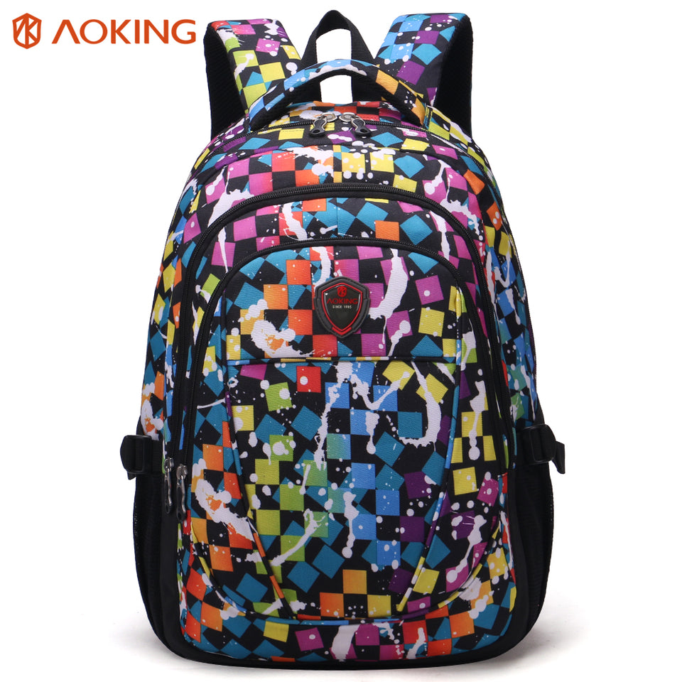Backpack with floral shape