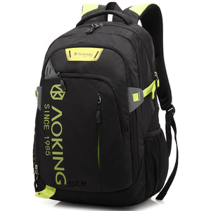 Aoking Nylon Waterproof Laptop Backpack Men Women Functional Travel Backpacks For Teenage Girls Youth Trend Schoolbag Boys Student Bag