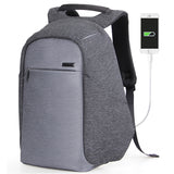 Waterproof mochila school with external USB port