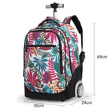 Fashion flower laptop backpack