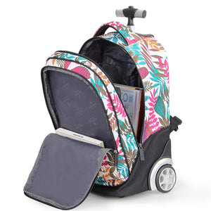 Fresh college floral trolley backpack