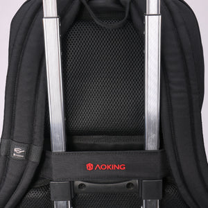 Convenient travel backpack with back tie strap