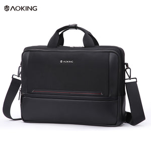 Aoking Spacious Anti-theft Briefcase Male Shoulder Bag