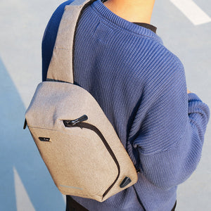 Backpack with external charging port